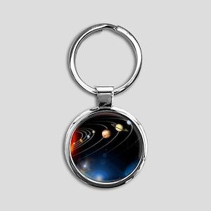 Solar system planets Round Keychain