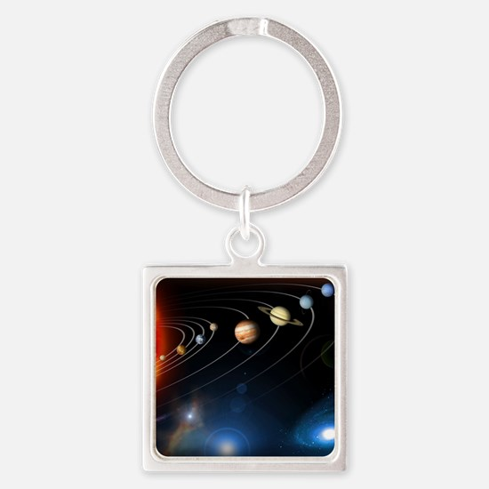 Solar system planets Square Keychain