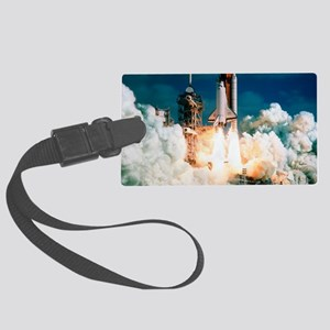 Space Shuttle launch Large Luggage Tag