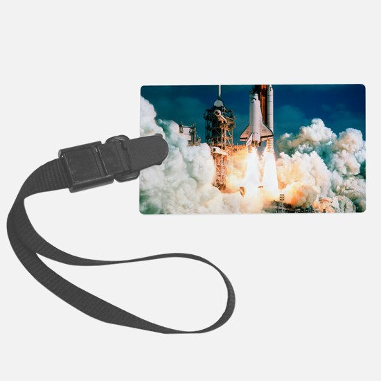 Space Shuttle launch Luggage Tag