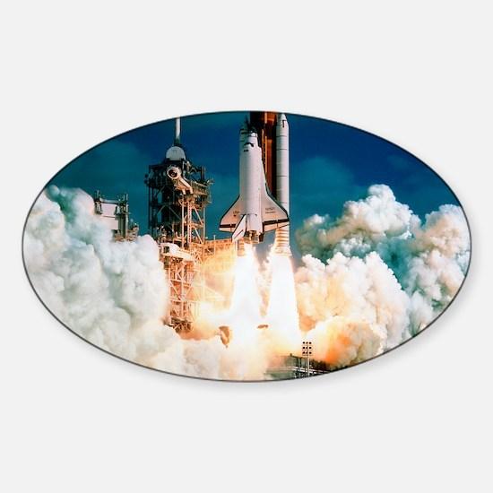 Space Shuttle launch Sticker (Oval)
