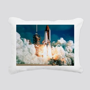 Space Shuttle launch Rectangular Canvas Pillow