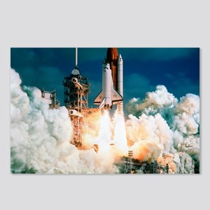 Space Shuttle launch Postcards (Package of 8)