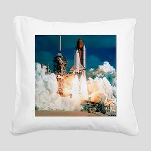 Space Shuttle launch Square Canvas Pillow