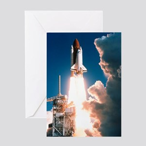 Space Shuttle launch Greeting Card