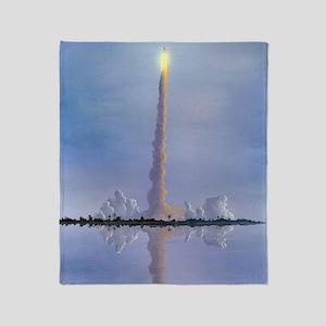 Space Shuttle launch, artwork Throw Blanket