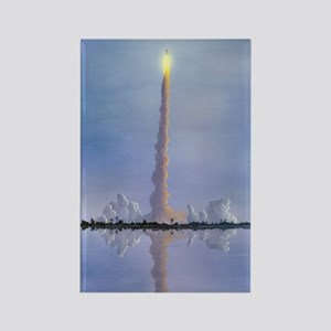 Space Shuttle launch, artwork Rectangle Magnet