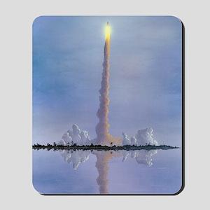 Space Shuttle launch, artwork Mousepad