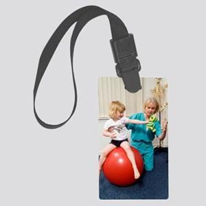 Balance and stability physiother Large Luggage Tag