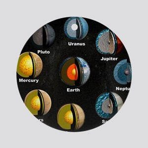 Planets' internal structures Round Ornament