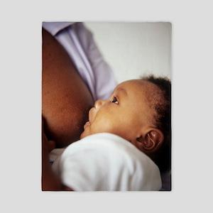 Baby boy breastfeeding Twin Duvet