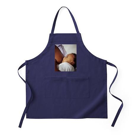 Baby boy breastfeeding Apron (dark)