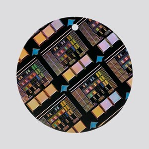 Production of integrated circuits Round Ornament
