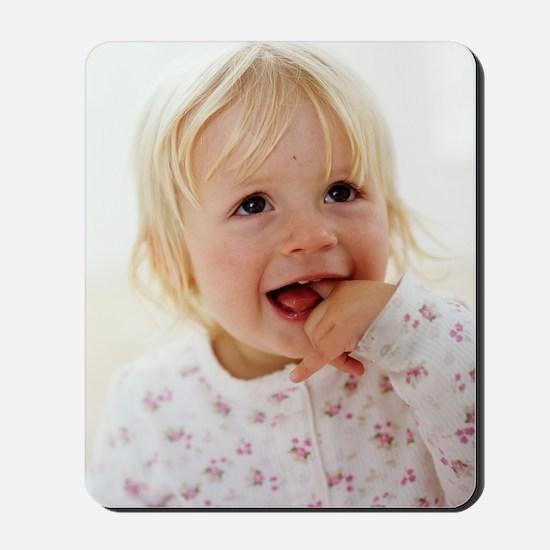 Baby girl's face Mousepad
