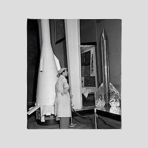 Soviet rocketry museum, 1959 Throw Blanket