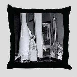 Soviet rocketry museum, 1959 Throw Pillow