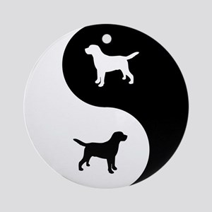 Yin Yang Lab Ornament (Round)