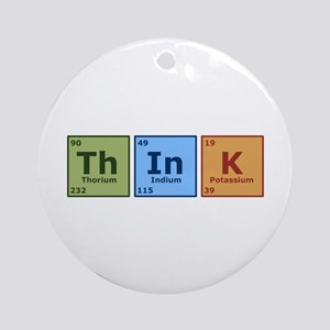 Think 2 Ornament (Round)