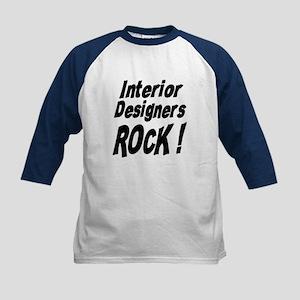 Interior Designers Rock ! Kids Baseball Jersey