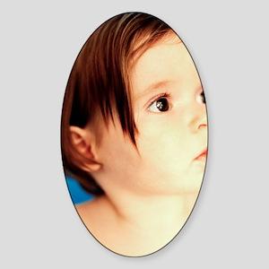 Baby girl Sticker (Oval)