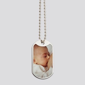 Baby girl breastfeeding Dog Tags