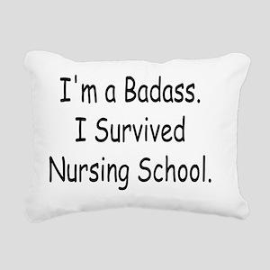 Badass Nursing Students Rectangular Canvas Pillow