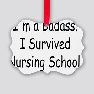 Badass Nursing Students Picture Ornament