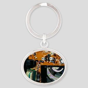 Transformer in a radio Oval Keychain