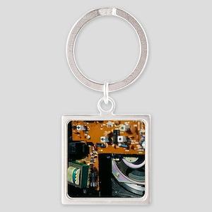 Transformer in a radio Square Keychain