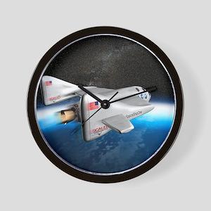 SpaceShipOne above Earth Wall Clock