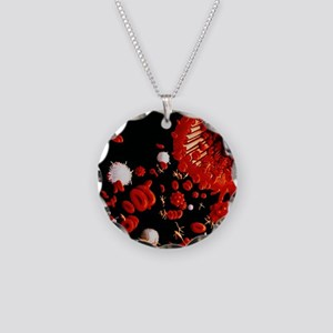 Types of blood cell Necklace Circle Charm