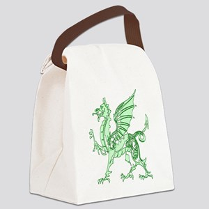 Green Dragon Canvas Lunch Bag