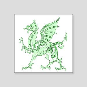 """Green Dragon Square Sticker 3"""" x 3"""""""