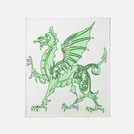Green Dragon Throw Blanket