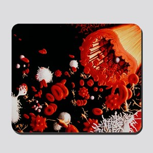 Types of blood cell Mousepad