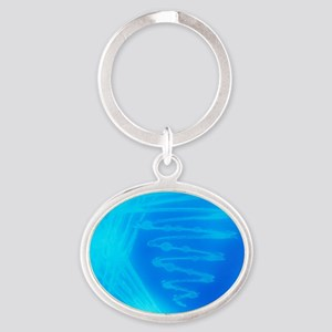 Bacterial culture Oval Keychain