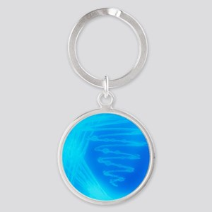 Bacterial culture Round Keychain