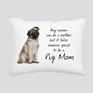 Pug Mom Rectangular Canvas Pillow