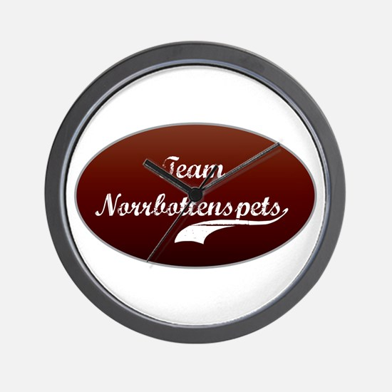Team Norrbottenspets Wall Clock