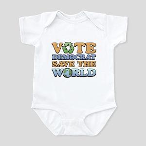Vote Democrat Save World Infant Bodysuit