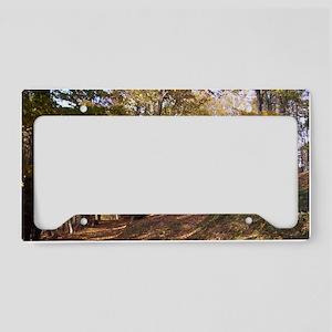 Autumn Forest License Plate Holder