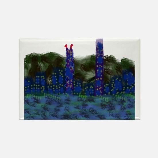 CITYMELTS Hong Kong Skyline Rectangle Magnet