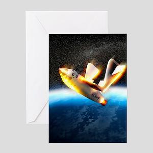 SpaceShipOne re-entry Greeting Card