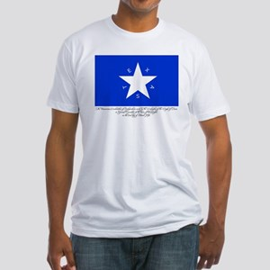Texas Flag with Declaration Fitted T-Shirt