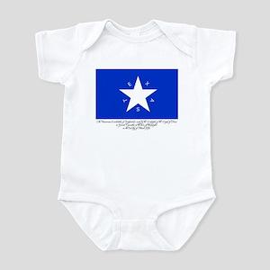 Texas Flag with Declaration Infant Bodysuit