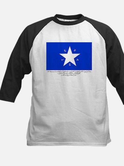 Texas Flag with Declaration Kids Baseball Jersey