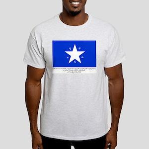 Texas Flag with Declaration Light T-Shirt