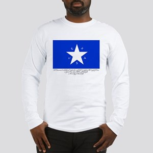 Texas Flag with Declaration Long Sleeve T-Shirt