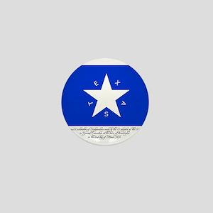 Texas Flag with Declaration Mini Button