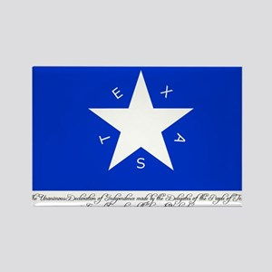 Texas Flag with Declaration Rectangle Magnet